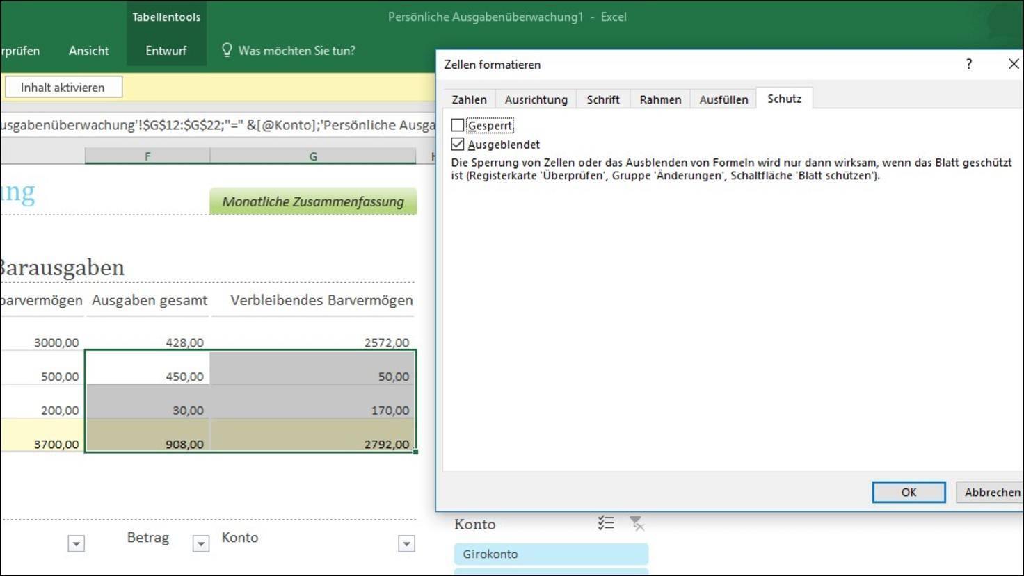 Excel-Formeln-anzeigen-Zellen-ausnehmen