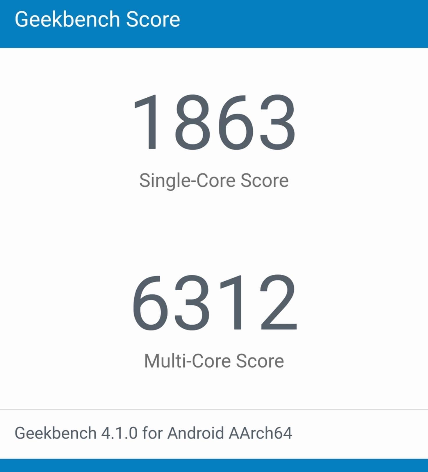 Geekbench Honor 8 Pro