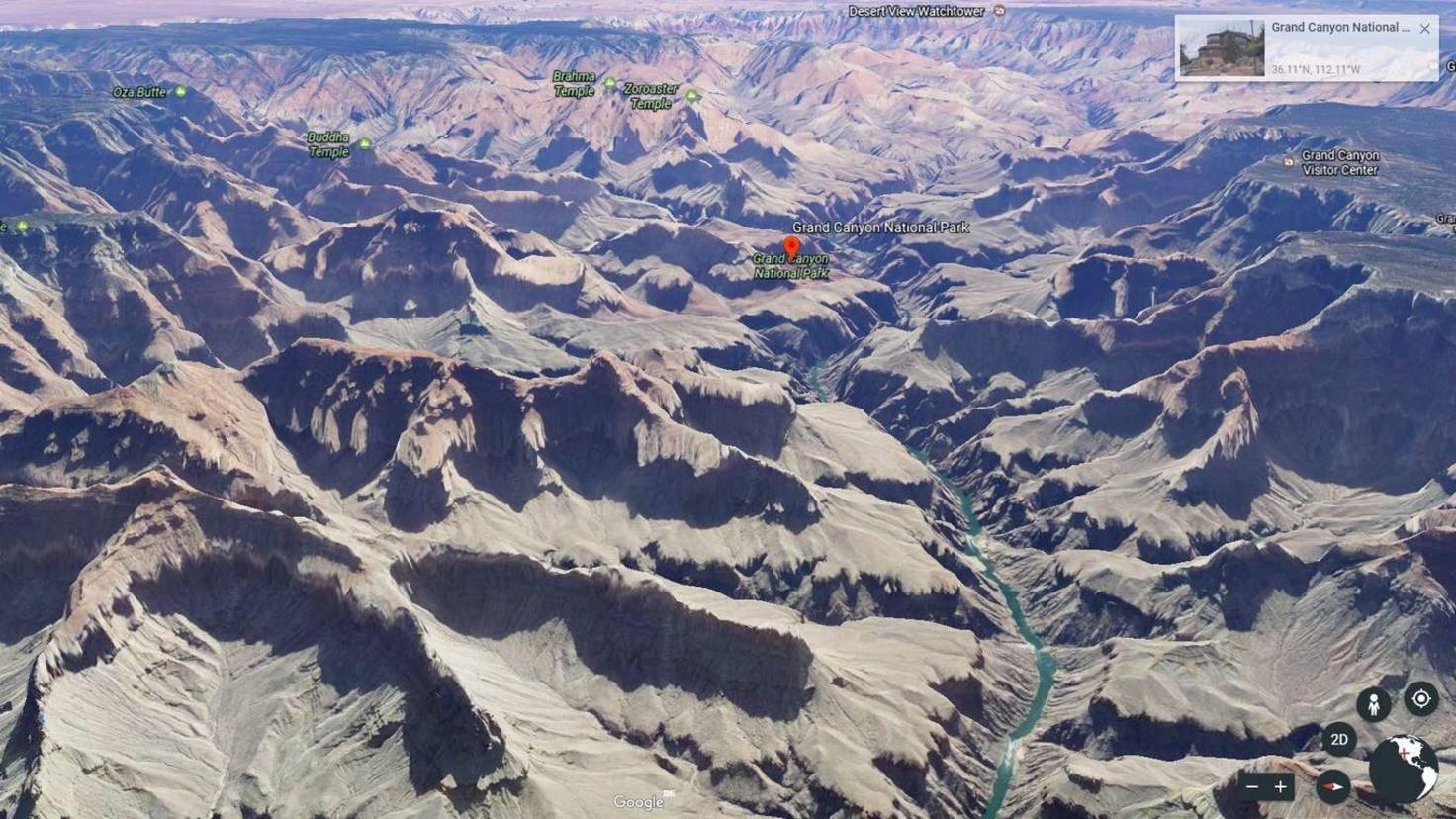 Google Earth Grand Canyon