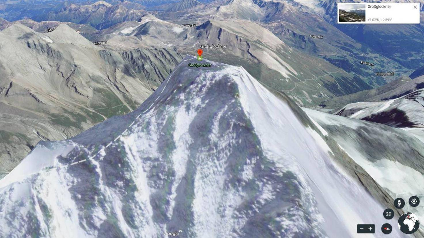 Google Earth Großglockner