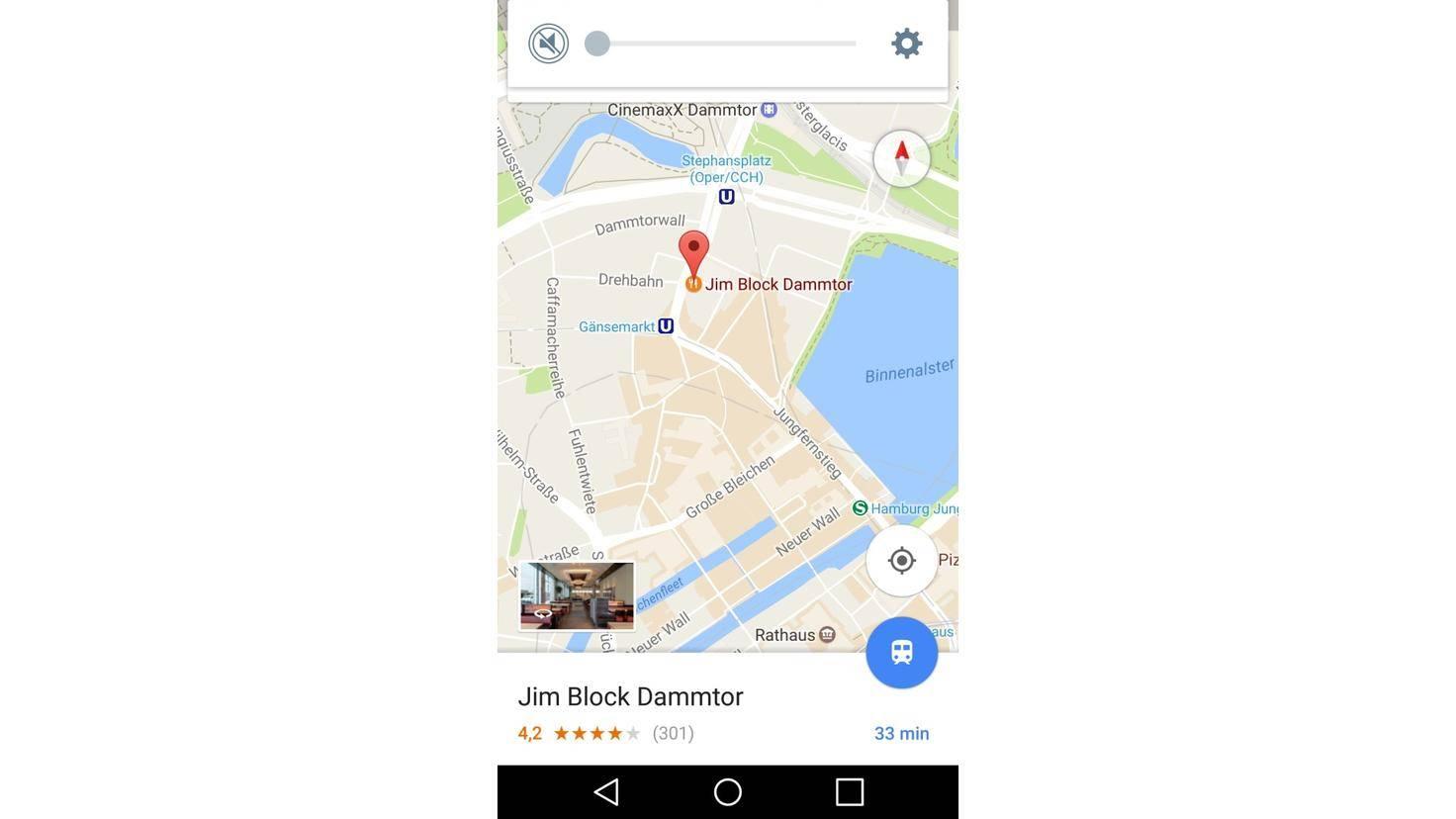 Google Maps Ort auswählen