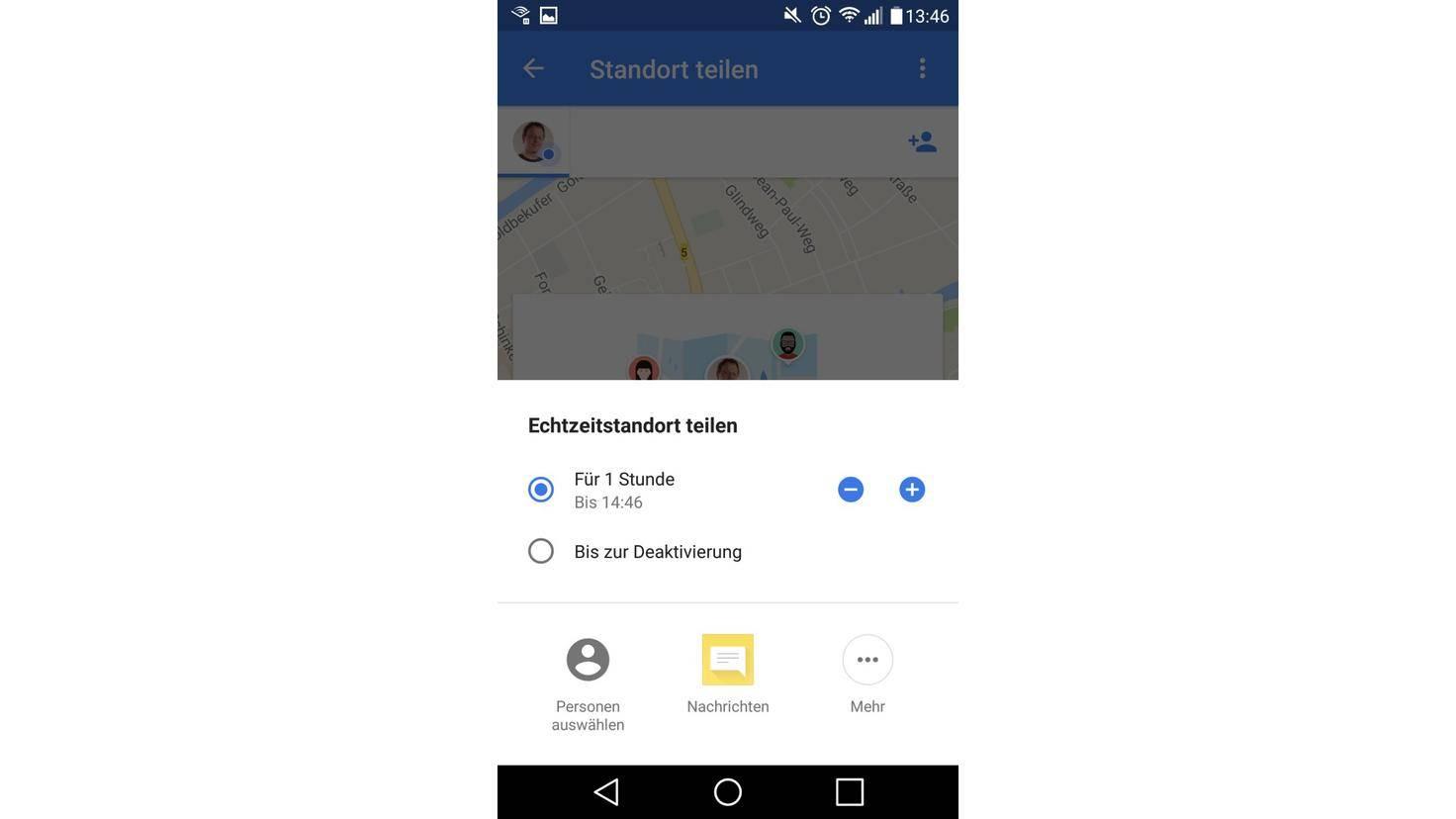 Google Maps Standort Zeit