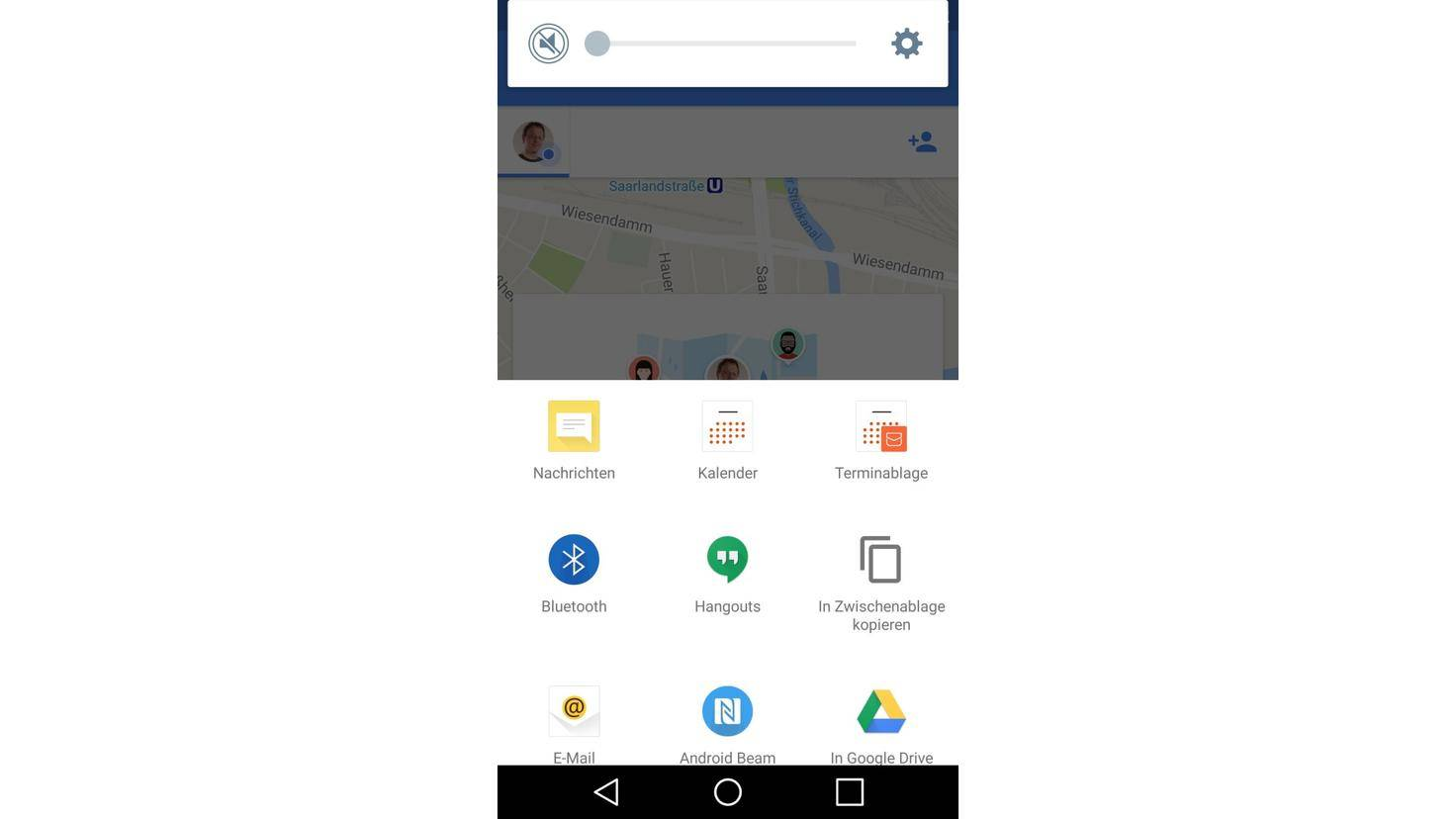 Google Maps Standort teilen Apps