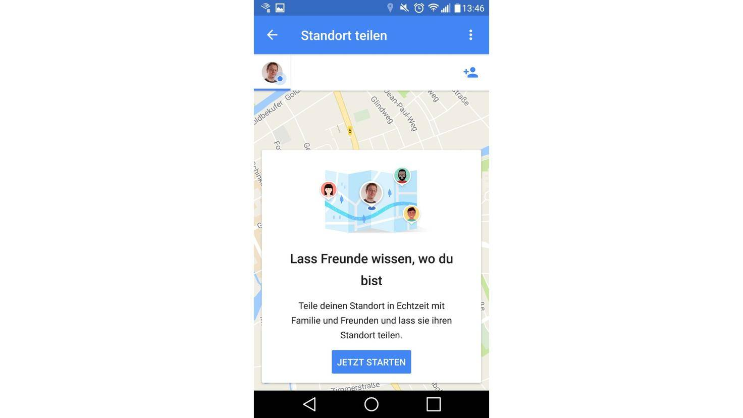 Google Maps Standort Freigeben