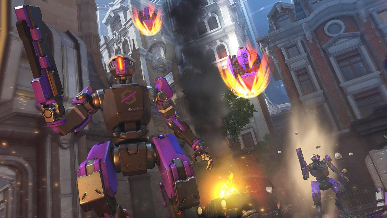 Die Spieler sehen sich einem unaufhörlichen Ansturm von Kampfrobotern gegenüber.