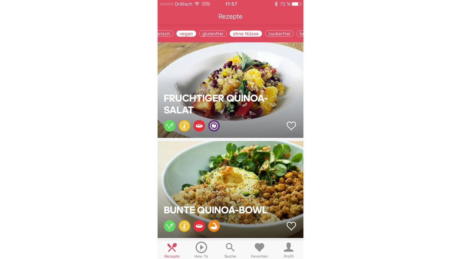 Filtere die Ergebnisse nach Deinen kulinarischen Vorlieben.