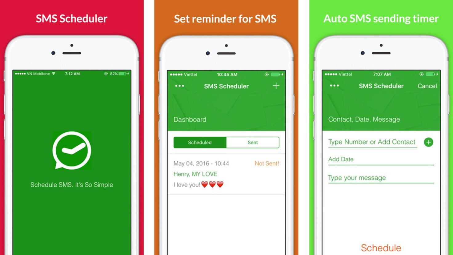 SMS Scheduler App Store