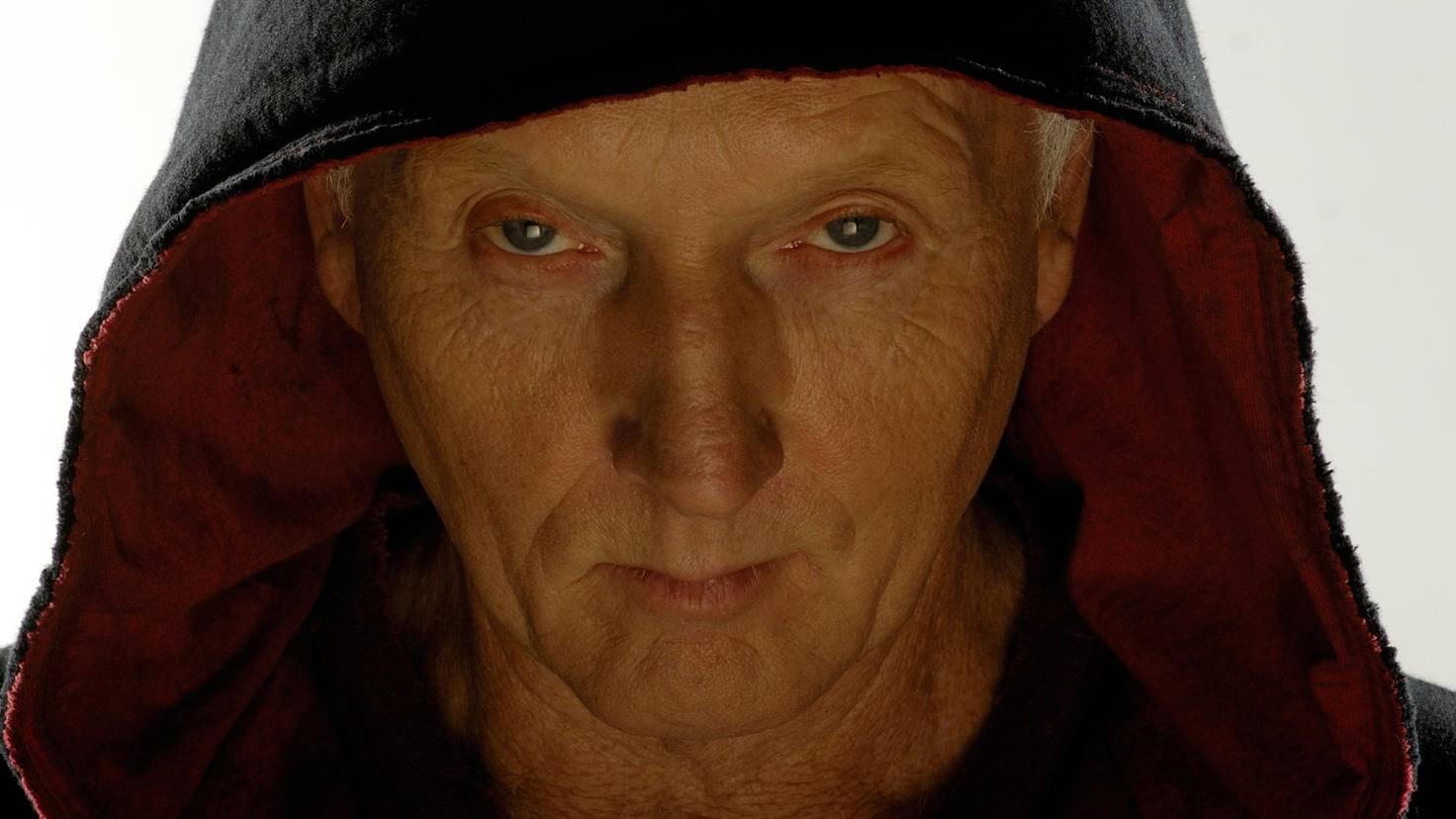 """Das Gesicht von Tobin Bell als Jigsaw ist mit der """"Saw""""-Reihe eng verbunden."""