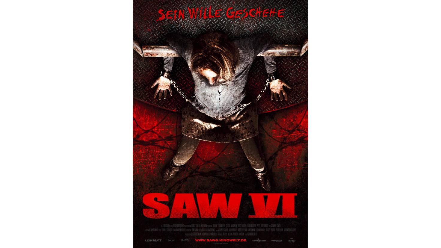 Plakat zum sechsten Saw-Teil.
