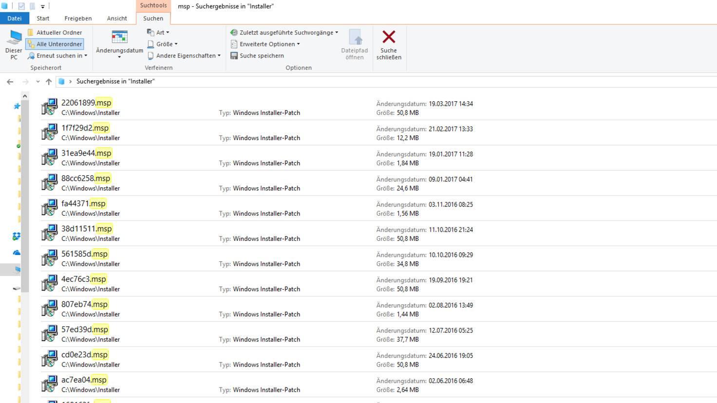 Windows 10 Update Dateien MSP