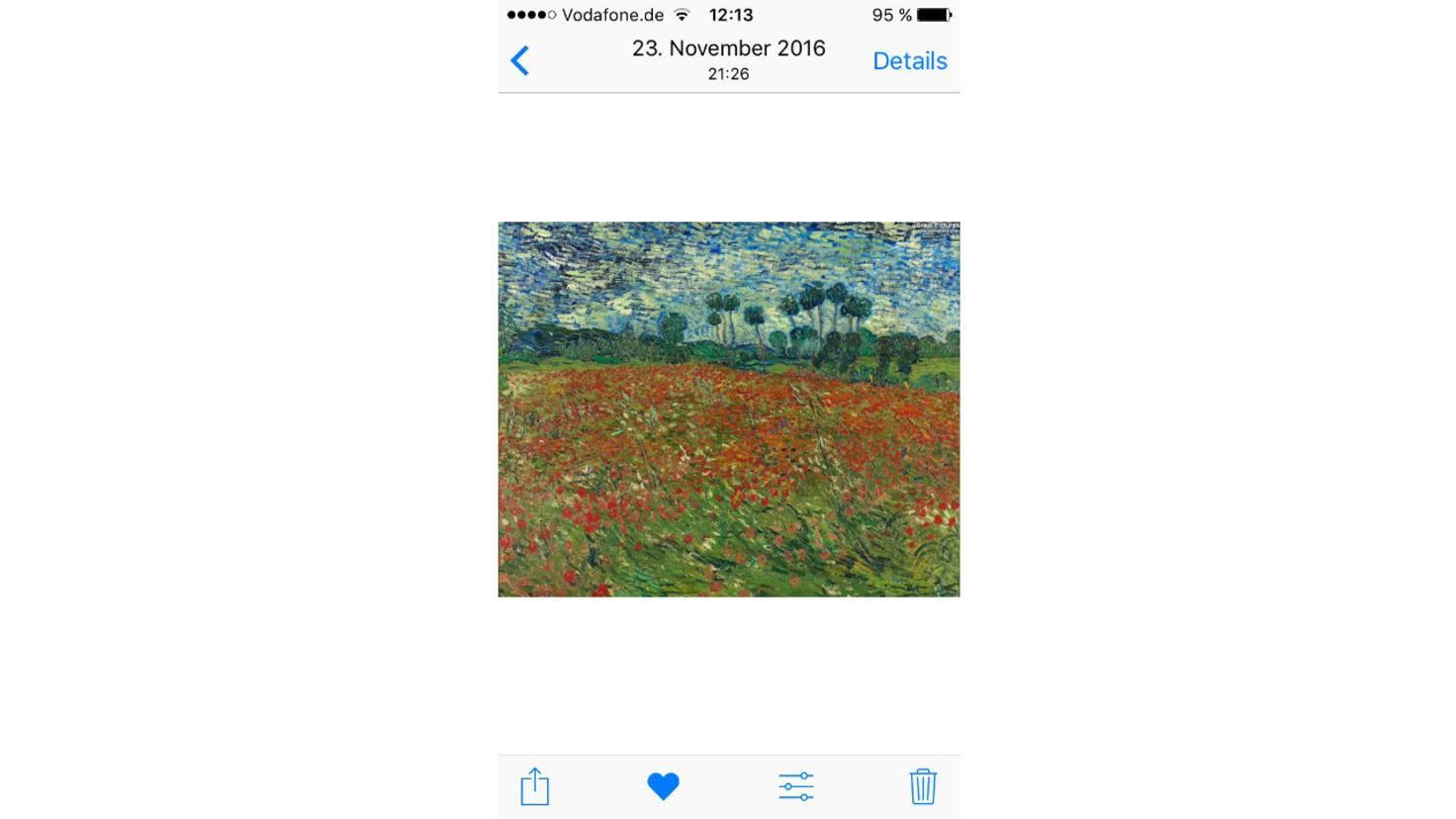 Es ist möglich, Bilder direkt aus der Fotos-App als Hintergrund zu setzen.