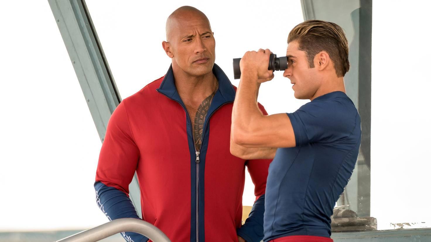Neben der geballten Muskelpower von Dwayne Johnson (links) und Zac Efron (rechts) ...