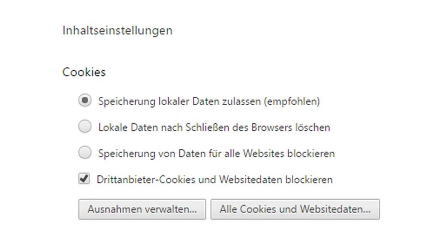 Chrome-Cookies-Drittanbieter