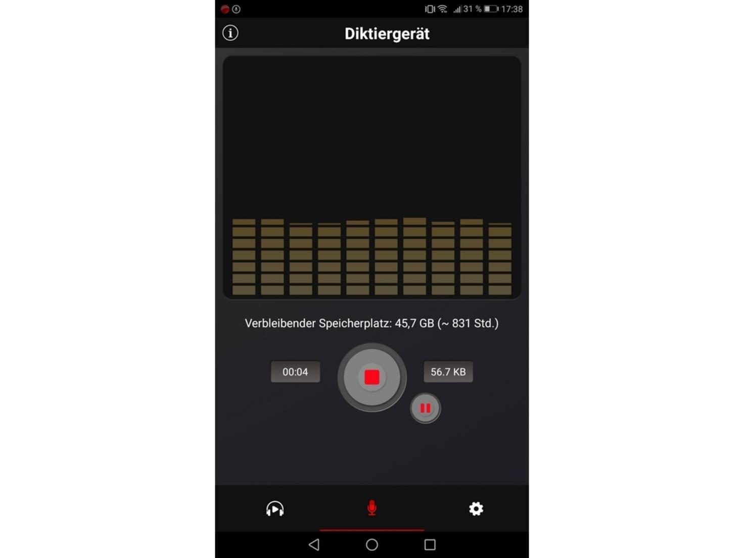 Diktiergerät-Android