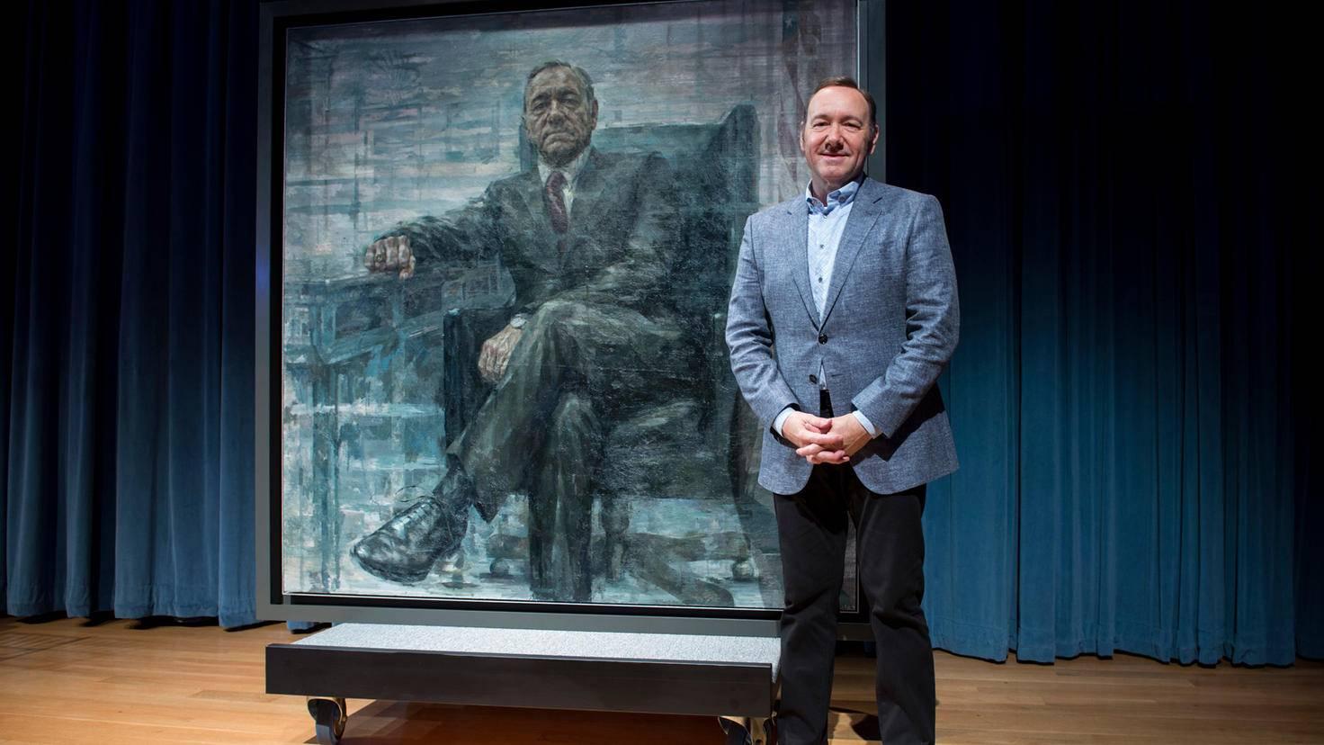 Bitte lächeln! Im Zuge einer Promo-Aktion wurde von Fake-Präsident Frank Underwood ein Portrait im Smithsonian's aufgehängt.