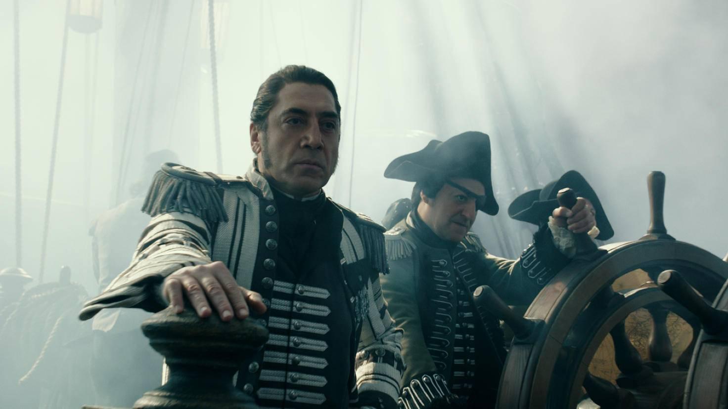 Captain Salazar (Javier Bardem, vorne) mit seiner Mannschaft vor dem Fluch
