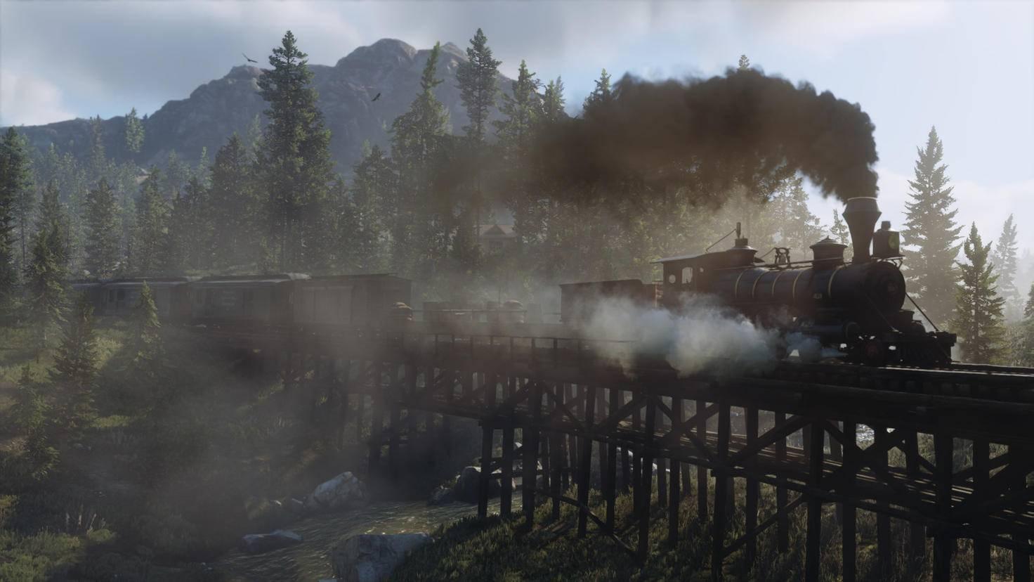 Die Eisenbahn bringt Dich schnell durch's Land.