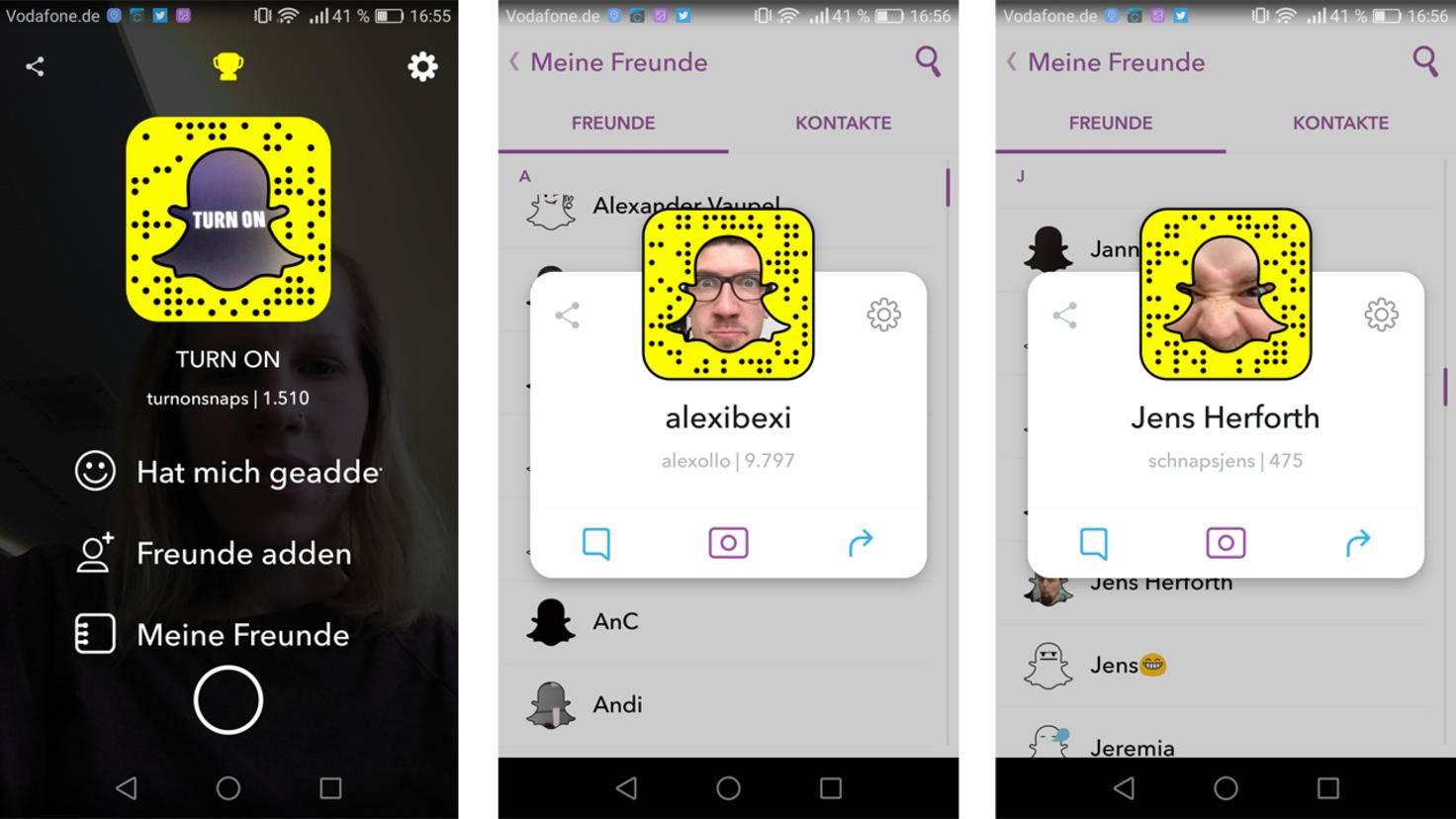 Snapchat-Punkte