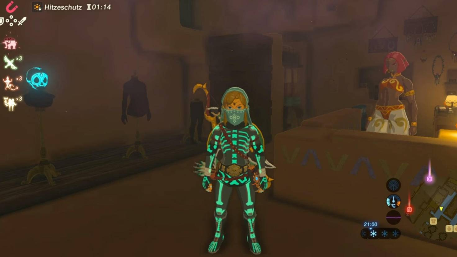 Mit dem Leucht-Set aus dem Gerudo-Geheim-Club ist Link für jede Halloween-Party gerüstet.