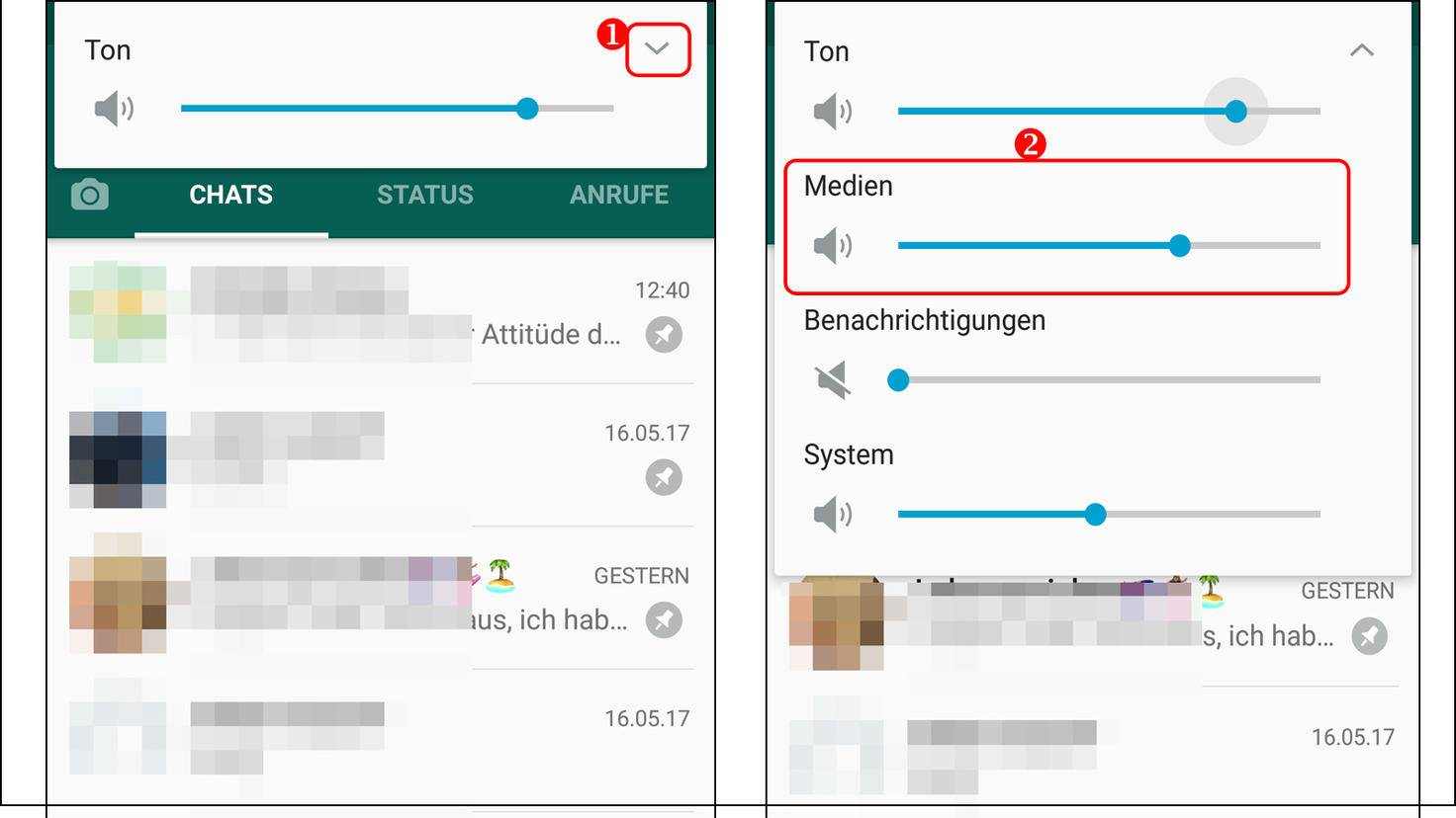 WhatsApp zu leise