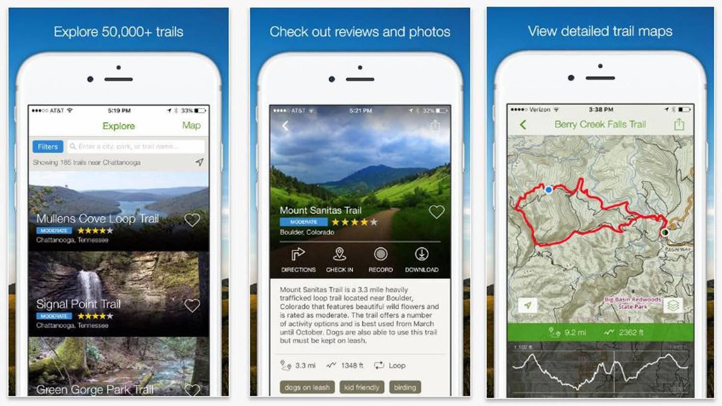 AllTrails Hiking Trail Running Biking Trails-iTunes-AllTrails Inc