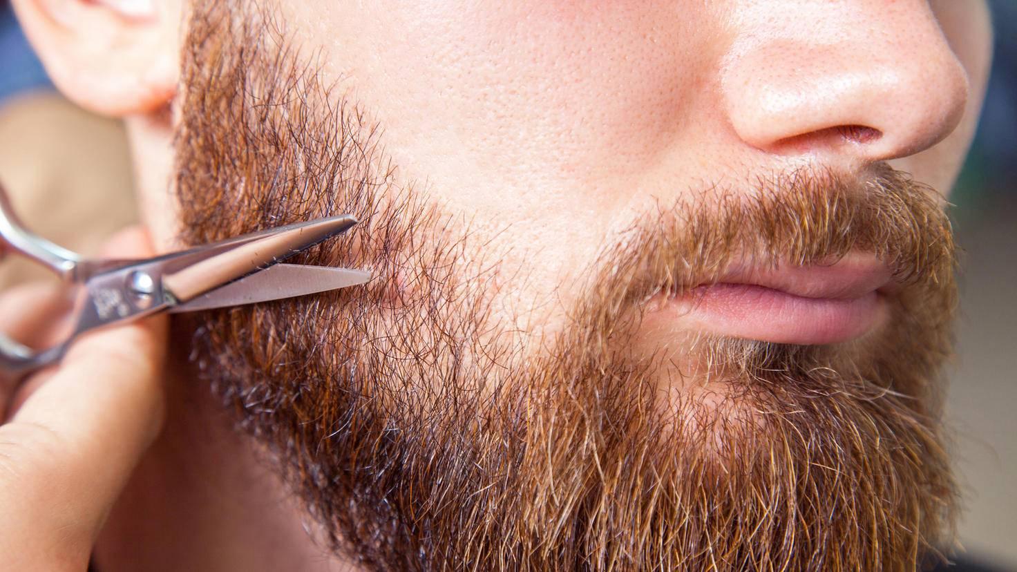 Bart trimmen Schere