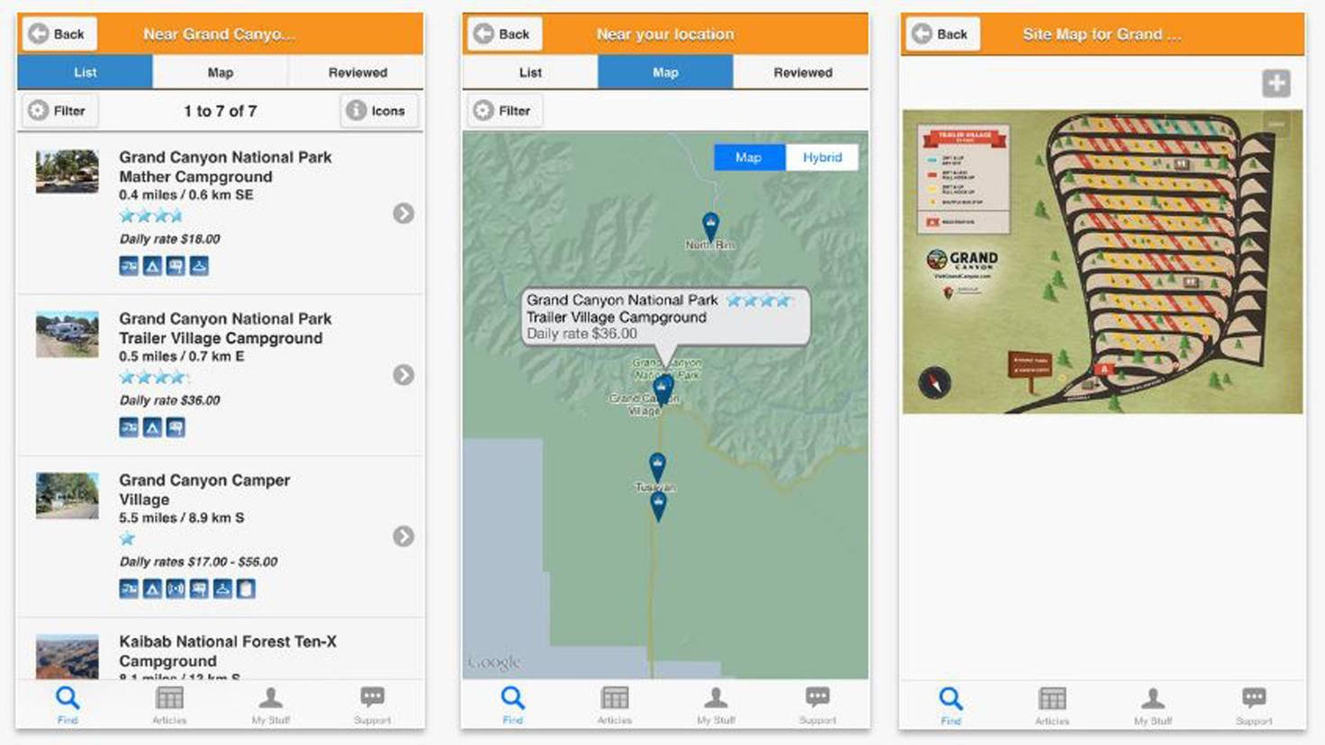 App Camp Finder