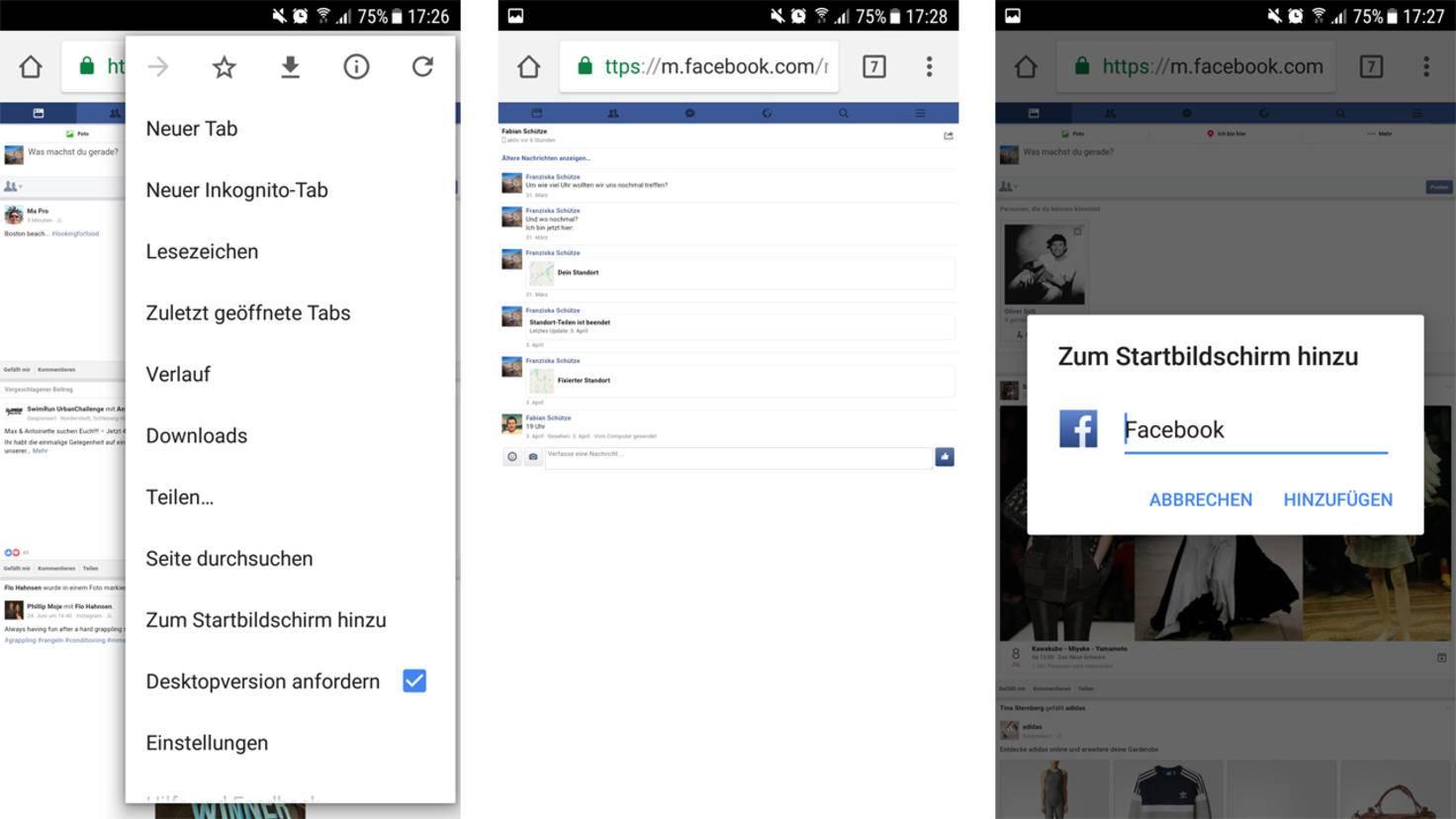 Facebook Messenger umgehen