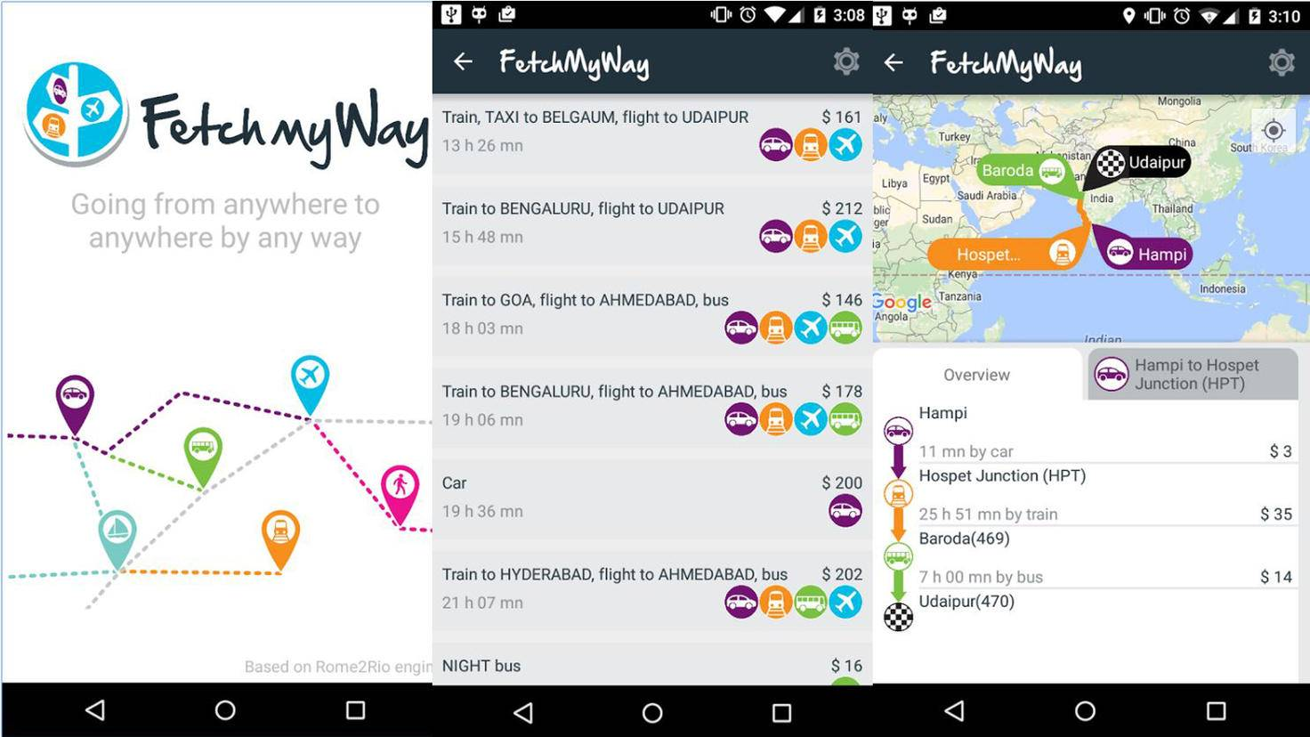 FetchMyWay-Google PlayStore-BackApp Dev