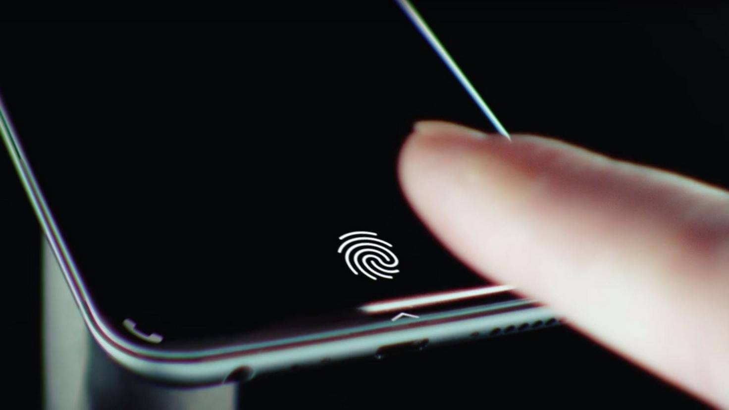 Fingerabdruckscanner-Display