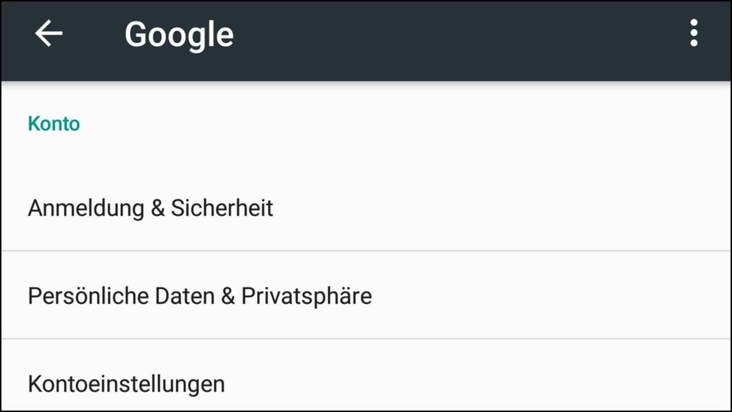 Google Einstellungen App