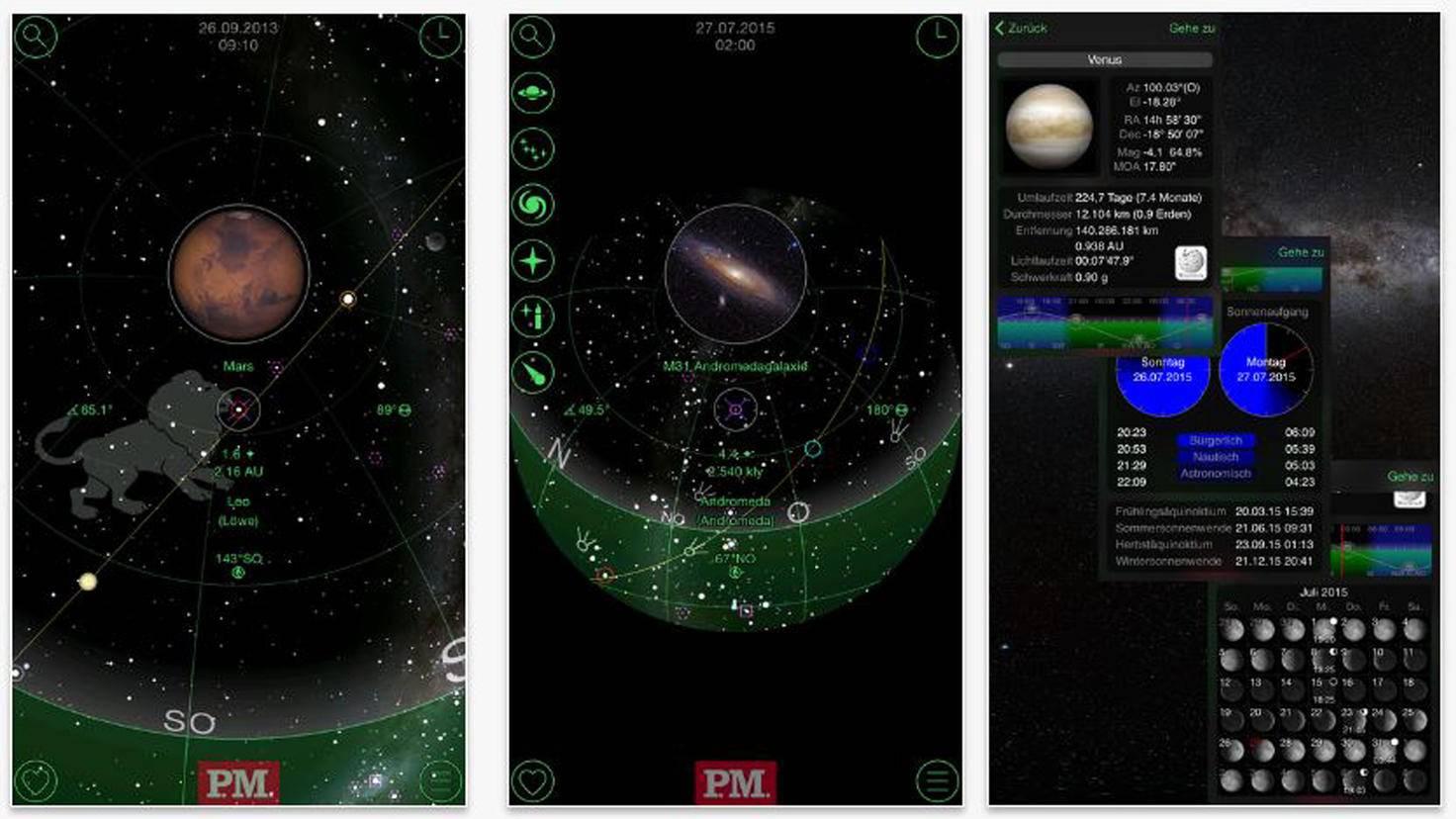 P.M. Planetarium-iTunes-P.M. und GoSkyWatch
