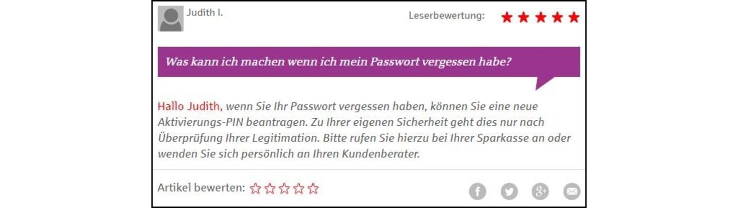 Sparkassen App Passwort Vergessen