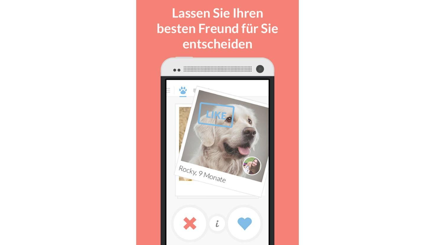 """Mit """"Twindogs"""" macht Dein Hund den ersten Schritt. Gefällt sein Bild den anderen Usern, kannst Du mit ihnen ins Gespräch kommen."""