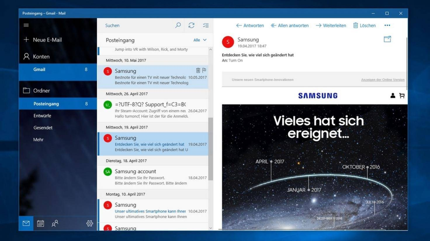 Mail Programme Windows