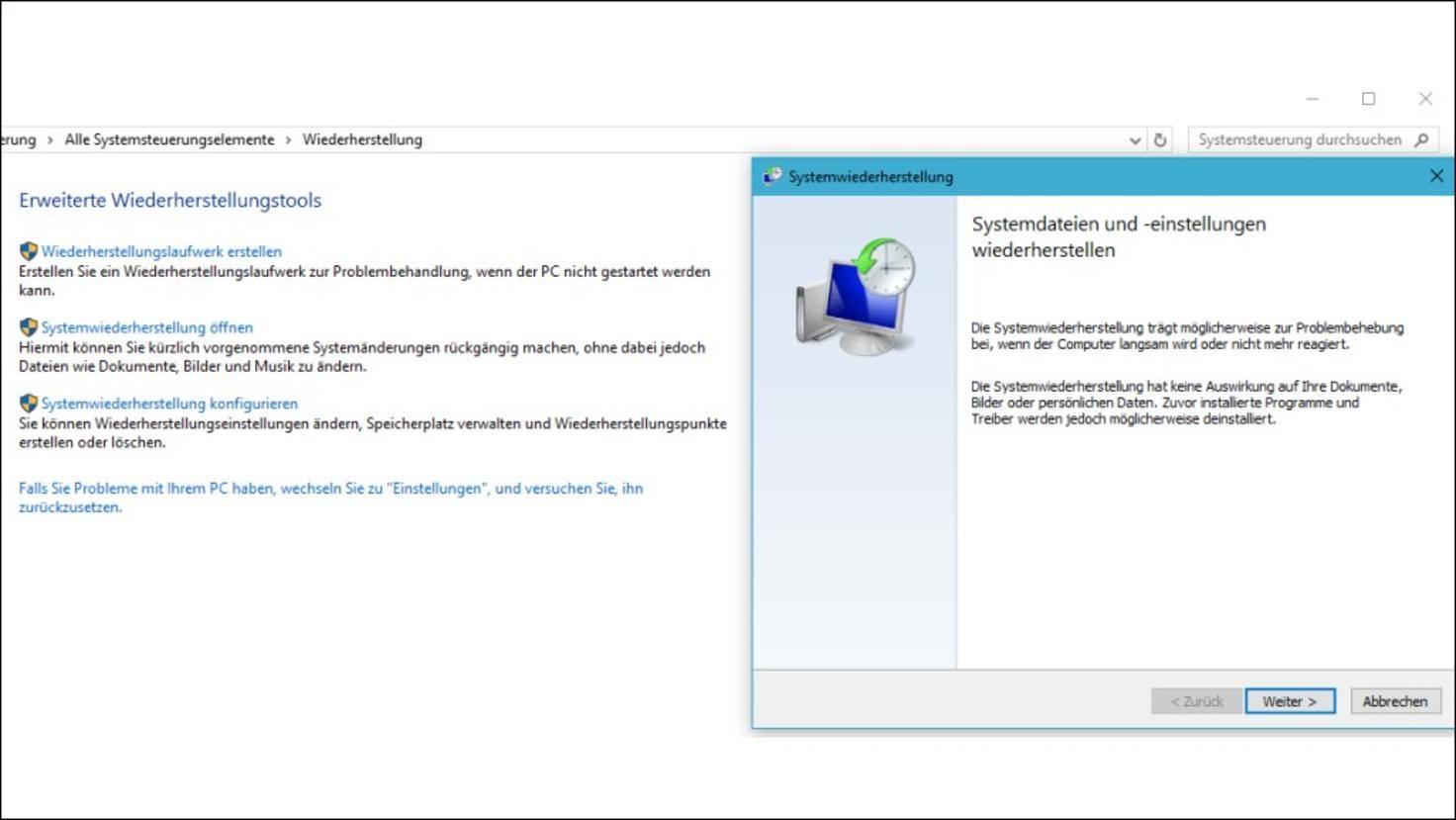 Windows-10-Wiederherstellung