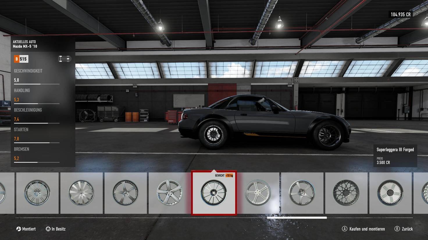 Zusätzlich lassen sich die über 700 Fahrzeuge noch stark individualisieren.