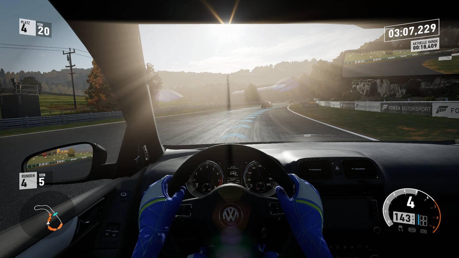 """Die Lichteffekte in """"Forza Motorsport 7"""" kommen schön zur Geltung."""