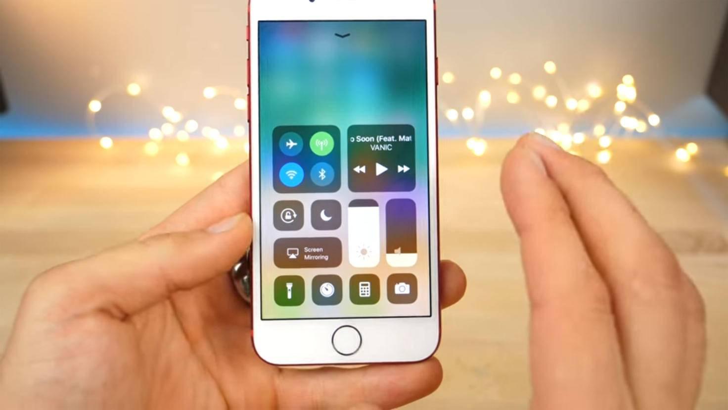 iOS 11 Kontrollzentrum