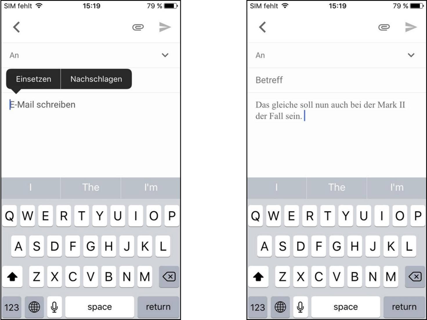 iphone text kopieren geht nicht