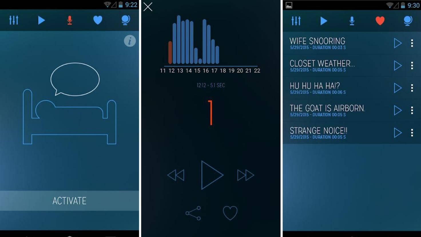 sleep talk-recorder app