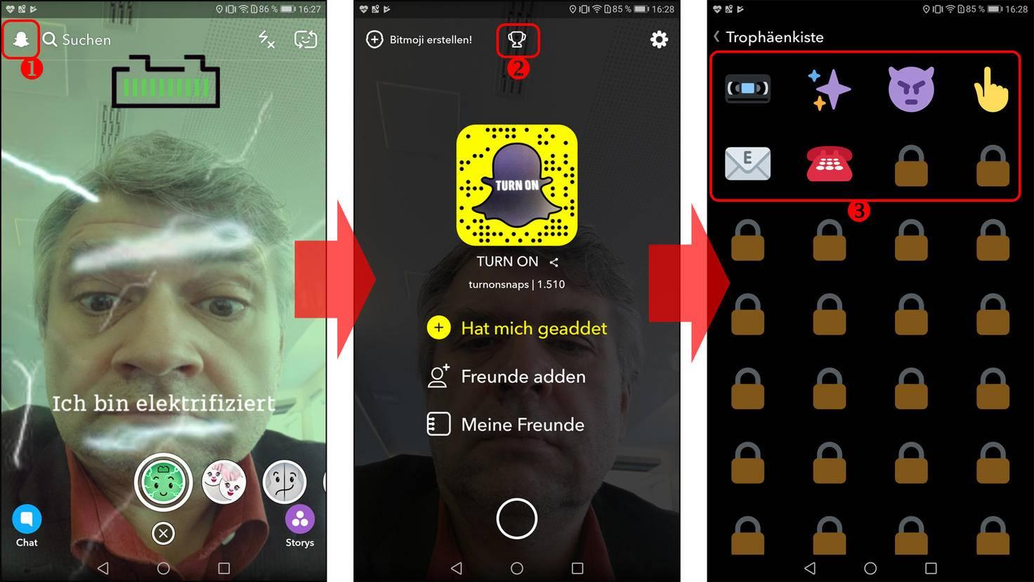 Snapchat Trophäen