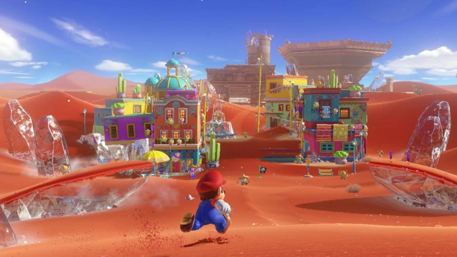 """Das rennen zur Zielfahne ist Vergangenheit. In """"Super Mario Odyssey"""" steht Erkundung im Vordergrund."""