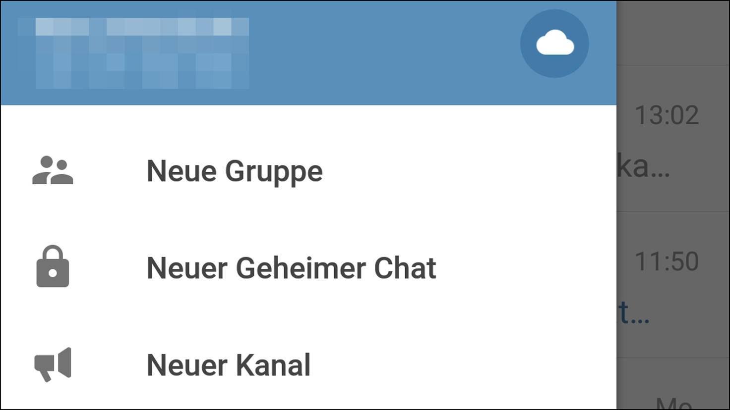 Telegram: Geheimer Chat