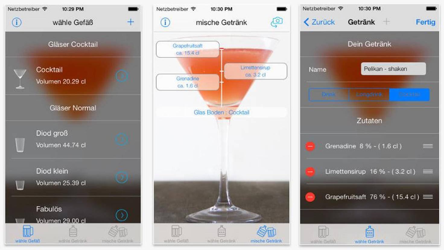 Cocktails Virtueller Drink Mixer-iTunes-Thomas Postler