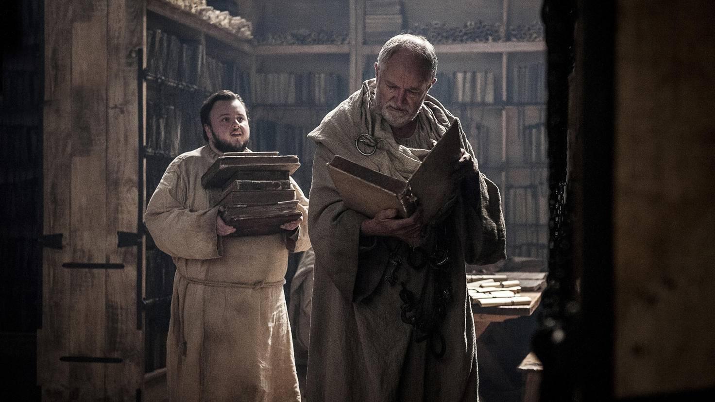 Klos putzen, Eiter entfernen und Bücher schleppen: Samwell hatte sich seinen Aufenthalt in Altsass sicherlich anders vorgestellt.