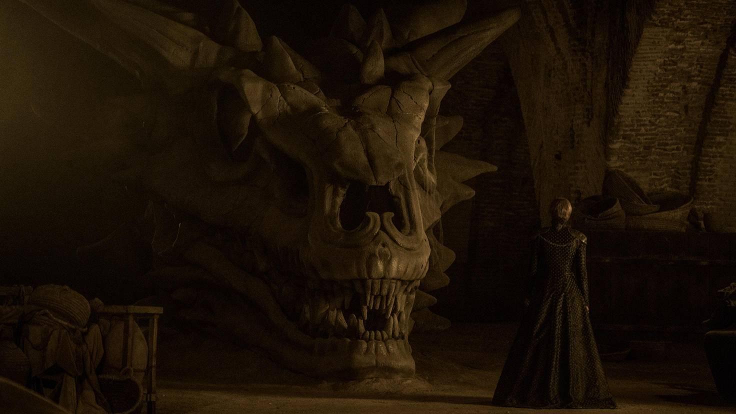 Balerions Kopf wird in den Katakomben von Königsmund aufbewahrt.