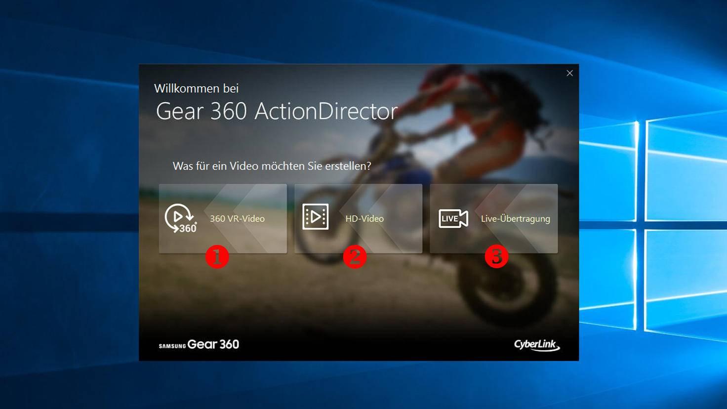 Samsung Gear 360 ActionDirector