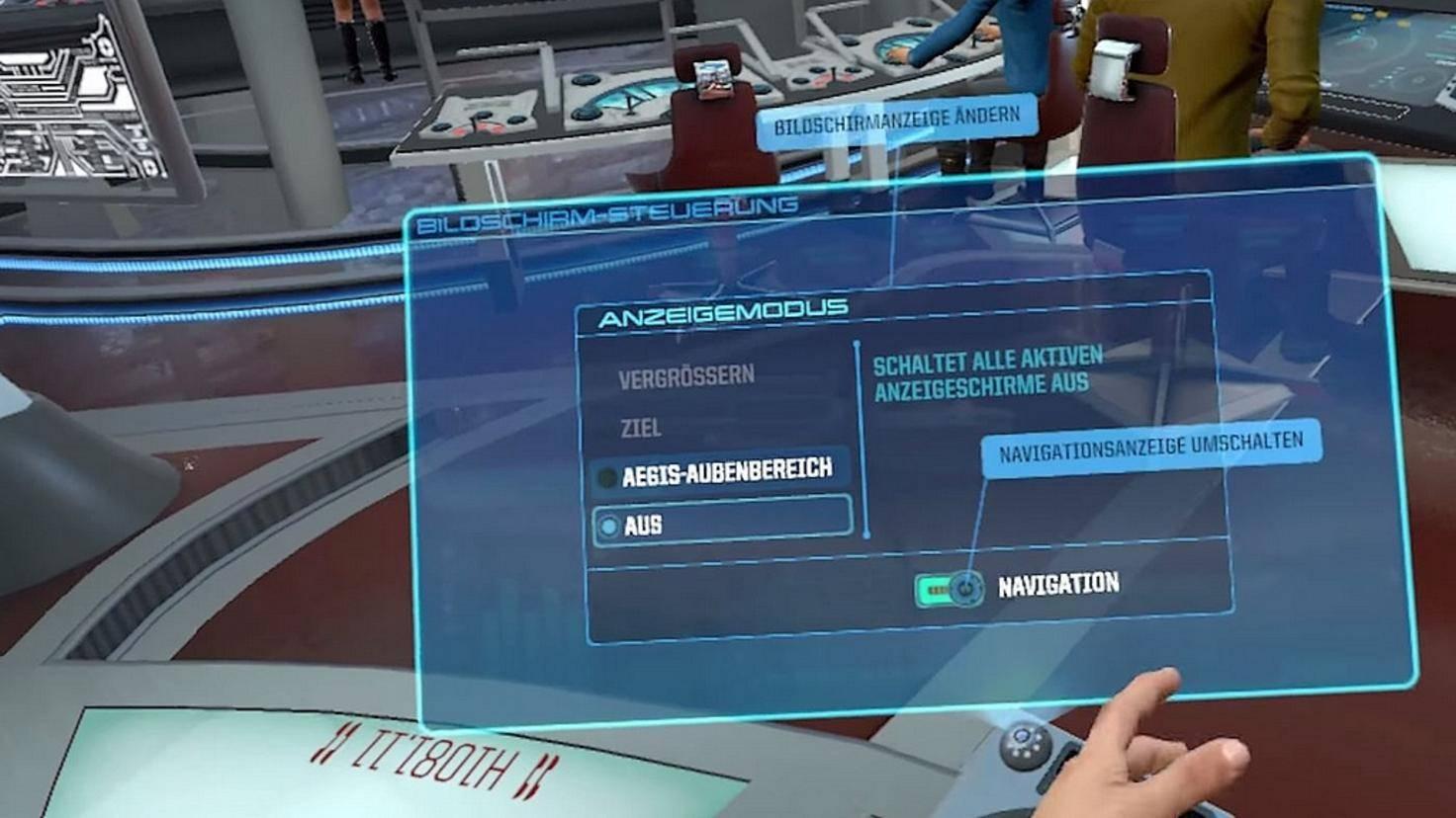 Navigationsanzeige-Star-Trek