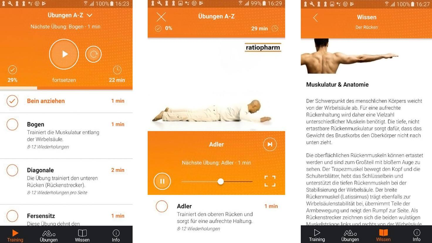 Ratiopharm Rückenschule App-Google Play Store-Ratiopharm GmbH